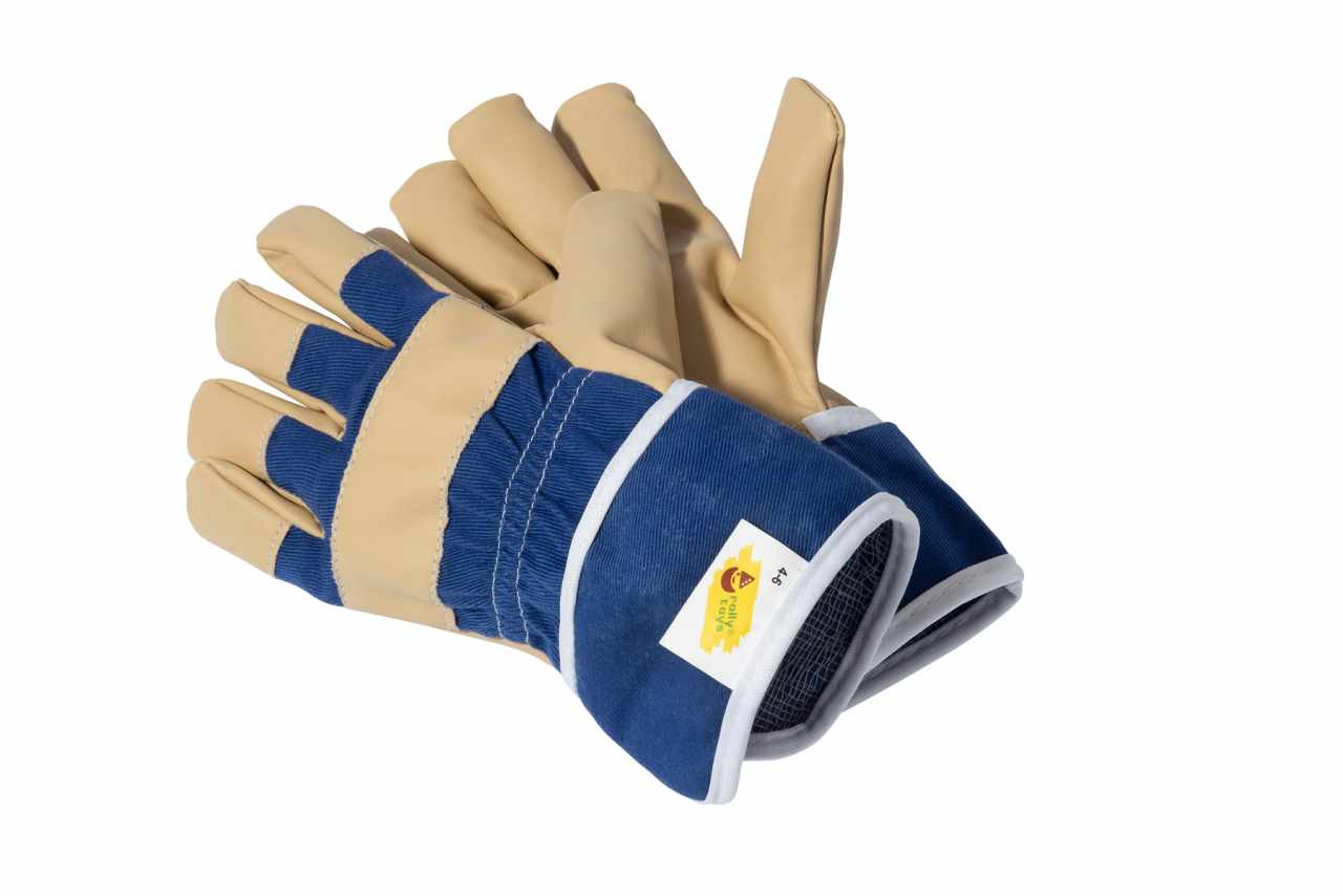 GUANTES ROLLY AZULES width=